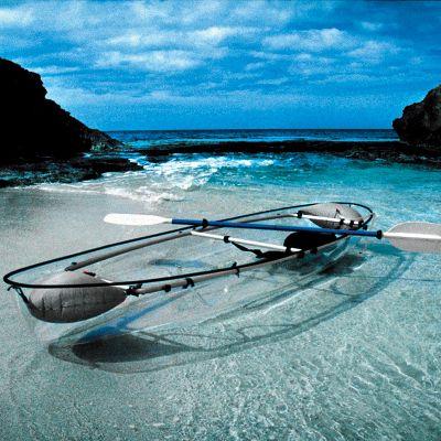 transparent clear hybrid canoe kayak